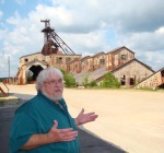 Arthur offers up some history at the Missouri State Mines Historic Site.