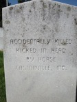 Bloomfield has a unique cemetery where you find how soldiers died.