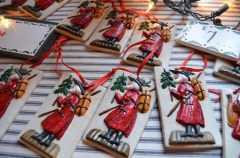 Hand-painted Springerle cookies are for sale at the Kristkindl Markt at Deutschheim State Historic Site in Hermann.