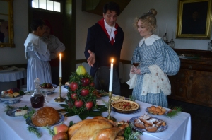 The staff at Felix Valle House State Historic Site in Ste. Genevieve dresses in period clothing and serves a French feast at Christmas.