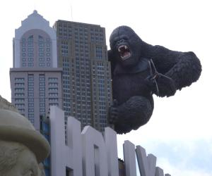 King Kong is one of the celebs waiting for you at Hollywood Wax Museum.