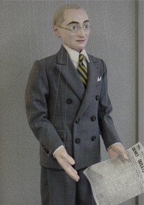 This marionette at Puppetry Arts Institute depicts President Truman.