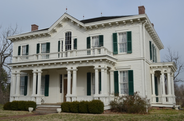 The mansion at the Hunter-Dawson State Historic Site reflects the wealth of the port of New Madrid prior to the Civil War.