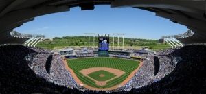 Kauffman Stadium is a great place to catch a game.