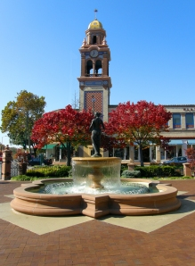The fountains of Country Club Plaza are well known for their beauty.